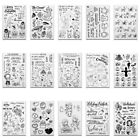 Various Transparent Silicone Clear Rubber Stamp Sheet Cling Scrapbooking DIY UK