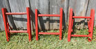 Brightly Colored Paprika Rustic Antique 2 Rung Ladder