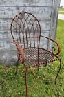 Wrought Iron Heavy Patio Chair Metal Seating Garden Furniture