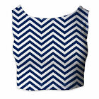 Chevron Stripes Sleeveless Crop Top - Sleeveless XS - 5XL
