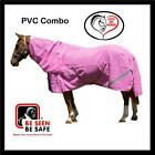 LOVE MY HORSE 4'0 - 4'9 PVC Mesh Turnout Reflective Combo Mini Horse Rug Pink