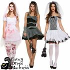 Ladies Halloween Bride Fancy Dress Outfit Ghost Undead Corpse Zombie Costume