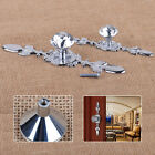 Glass Diamond Crystal Door Drawer Cabinet Cupboard Pull Back Knob Handle Decor