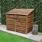 Cottesmore 4ft Outdoor Wooden Log Store - Available With Doors - UK Hand Made