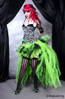 Ladies Long Tutu Black Swan Gothic Steampunk Burlesque Bustle Witch 6-22