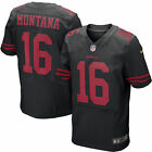 Joe Montana 16 San Francisco 49ers Mens Black Home Vintage Jersey