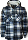 MENS CHECK LUMBERJACK SHIRT THICK PADDED QUILTED WARM WINTER WORK SHIRT SIZE