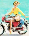 Pin Up Elvgren Lady Motorcycle Crazy Quilt Block Multi Szs FrEE ShiP WoRld WiDE
