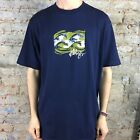 Billabong Rising Tide Short Sleeve T-Shirt in Navy Size S,L