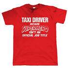 Taxi Driver Superhero, Mens Funny T-Shirt, Gift for Dad Christmas