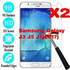 2X Real Tempered Glass Guard Screen Protector Film For Samsung Galaxy J3 5 7
