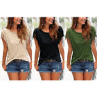 Summer New Ladies Tassels Short Sleeve Loose Ladies Casual T-Shirt Tops Blouse