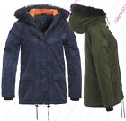 NEW Womens PARKA COAT Ladies JACKET Padded Quilted Khaki Navy Size 8 10 12 14 16