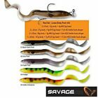 SAVAGE GEAR REAL EEL 20cm LURES X 2 AND 1 STINGER/ JIG HEAD ! crazy price!