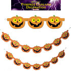 Pumpkin Garland Halloween 7pc Party Prop Decor Hanging Banner Haunted House 15M