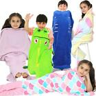 Kids Blanket Mermaid Tail Crocodile Unicorn Shark Soft Fleece Sleeping Bag Fancy