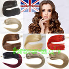 Loop Micro Ring Beads Tip Indian Remy Human Hair Extensions Thick 1g/s 50S/100S