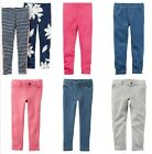 NWT Carter's Girls' French Terry Jeggings Jeans Pants Leggings Size 5 6X