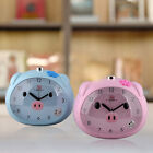 Cute Pig Alarm Clock Mini Cartoon Piggy Piglet Swine Desk Table Travel Clock