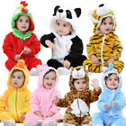 Baby Boys Girls Toddler Animals Halloween Costume Hooded Outfit Jumpsuit Cosplay
