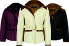 GIRLS KIDS CHILDRENS COAT JACKET QUILTED PADDED WINTER WARM RIDING 2 - 13 YEARS