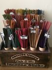 100 Coloured Incense Sticks 5 Different Mixed Scents UK SELLER FREE P&P