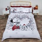 Red Stag & Friends Christmas Duvet/Quilt Cover With Pillow Cases