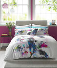 Lipsy 100% Cotton Watercolour Lily Bed Linen Duvet Cover & Pillow Set