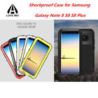 LOVE MEI Armor Hard Aluminum Metal Shockproof Case Cover For Samsung Note 8 S8