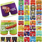 Men's Designer Novelty Rude Ballsy Boxers Trunks Funny Underwears