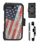 Apple iPhone 6 / 6S Defender Case Cover w/ Holster [ Belt Clip Fits Otter box ]
