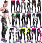 Sexy Design Print Womens Yoga Workout Gym Sports Pants Leggings Fitness Stretchy