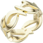 Wide Ring Women's from 585 Gold Yellow Finger Jewellery