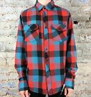 Fox Skeptic Long Sleeve Flannel Shirt in Flame Red Size S,M,L