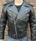 MENS BLACK MOTORCYCLE MOTORBIKER BRANDO PERFECTO CLASSIC LACES LEATHER JACKET