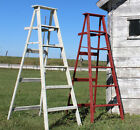 """1 Vintage Step Ladder With 6 Steps 64"""" Tall - Pick - 35 Colors Horizontal Back"""