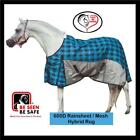 LOVE MY HORSE 600D 5'6 - 6'3 Waterproof Rainsheet Mesh Hybrid Rug Tarten Blue
