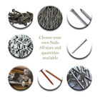 Nails Clout Round Head Annular Ring shank Twist Lost head Panel Pins U staples