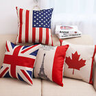 17'' USA American Flag Stars & Stripes Flag Cushion Cover Pillow Case Decorative