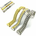 Gold Two Tone Silver Watch Band 20MM Stainless Steel Metal President Bracelet