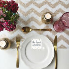 Champagne Chevron Sequin Table Runner - Ready to ship from the UK