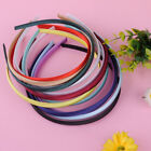 10Pcs 10mm Candy Satin Colored  Headband Plastic Hair Band Girls Hair Accessory