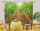 Secluded Forest Lane 3D Curtain Blockout Photo Print Curtain Drape Fabric Window