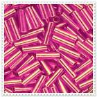 """20g - 100g 3"""" Pink / Purple Bugle Beads jewellery making WITH FREE GIFT 4420A,"""