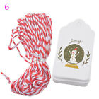 New 50PCs Paper Tags String DIY Craft Label Party Favor Christmas Decoration