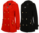 LADIES WOMENS COAT JACKET STUFFED WINTER PADDED WARM HEAVY NEW QUILTED FORMAL