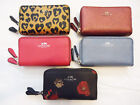 NWT Coach Small Double Zip Coin Case ID Wallet Leather F 57855 63921 Black Multi