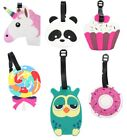 Luggage Tags Travel Unicorn Panda Owl Cupcake Lollipop Donut