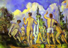 Bathers by Cezanne (classic French Post-Impressionist art print)