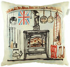 Woodburner Cushion, by Jennifer Rose Gallery, best of British (43cm x 43cm)